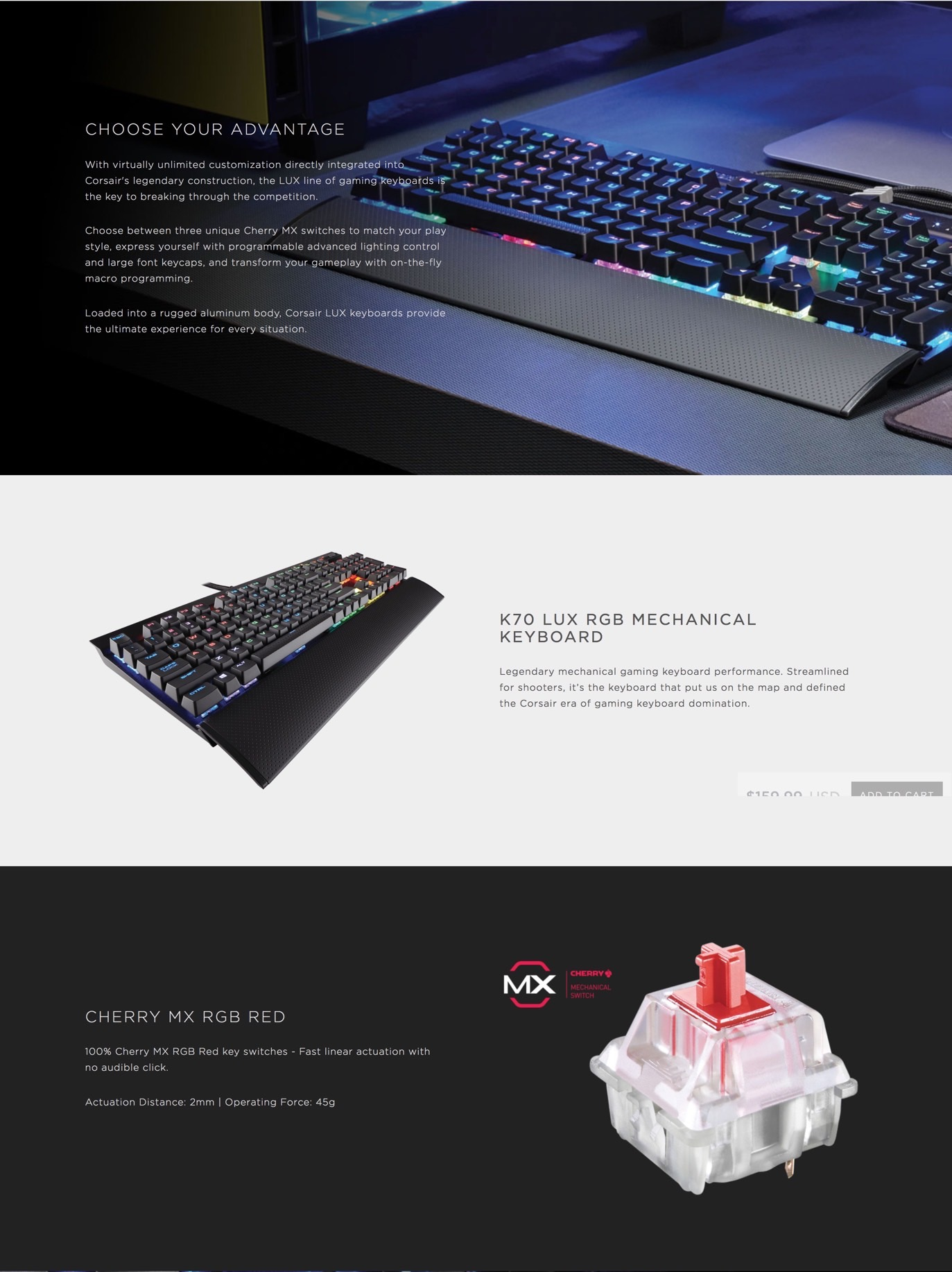 Promo Corsair K95 Rgb Cherry Mx Red Gaming Keyboard Terbaru 2018 K70 Lux Brown Switch Mechanical Hitam F Description Categories Keyboards Tags
