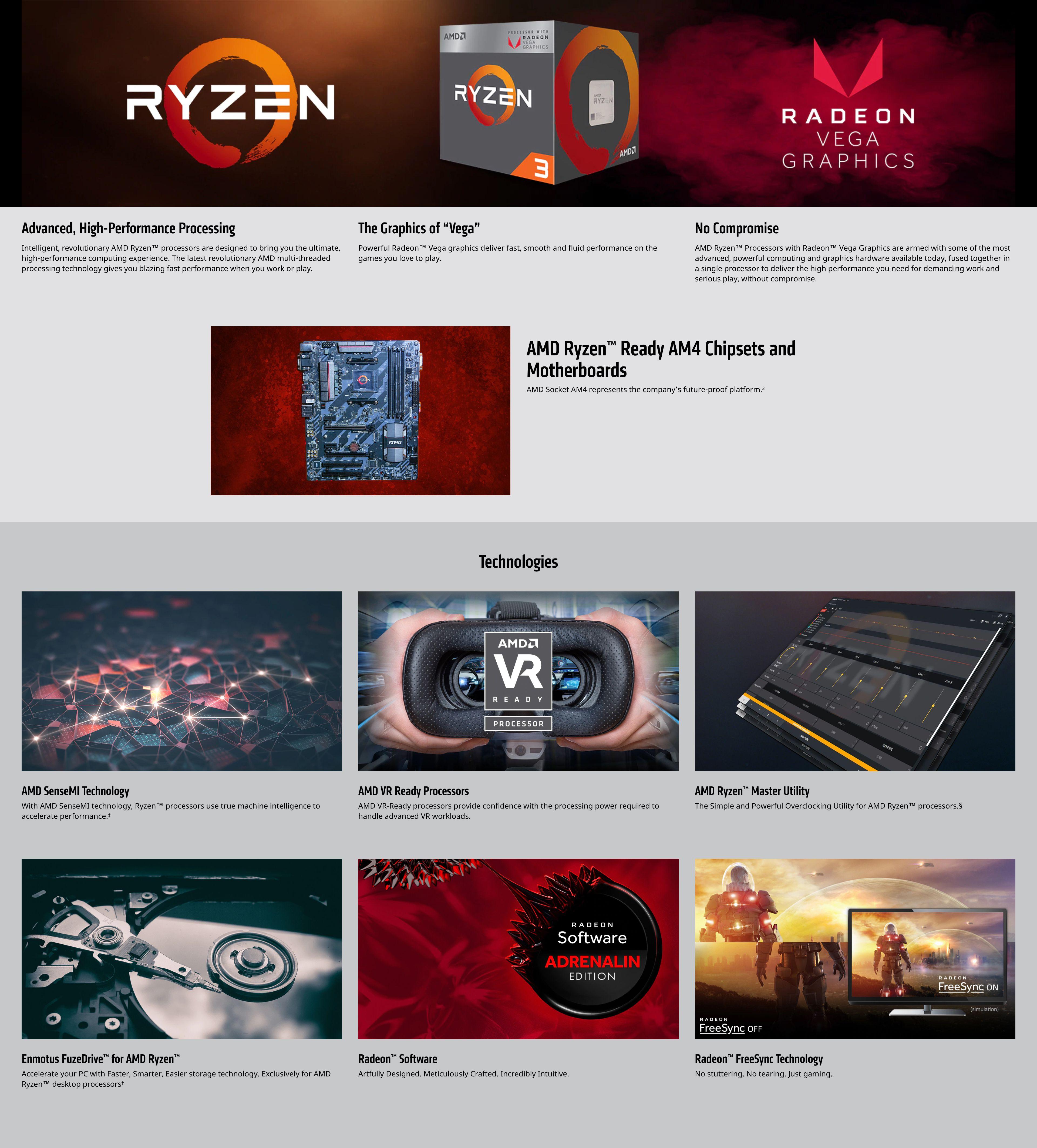 AMD Ryzen™ 3 2200G with Radeon™ Vega 8 Graphics