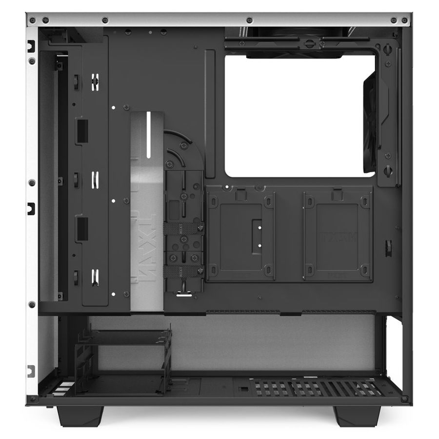 Nzxt H510 Premium Atx Mid Tower Case Matte White And Black F 1tech Computers